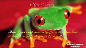 Effect of words