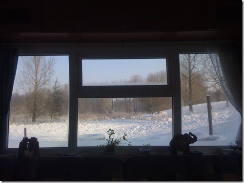L'hiver dans un mobil home!