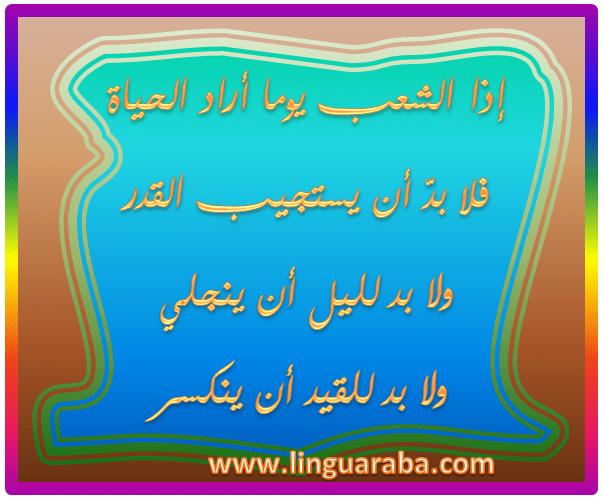 Bellissima poesia del poeta tunisino Abu Elqasim Elshabby