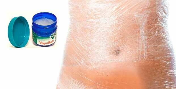 VICKS VAPORUB para un abdomen plano