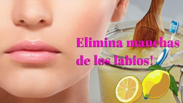 Blanquea y elimina las manchas de tus labios