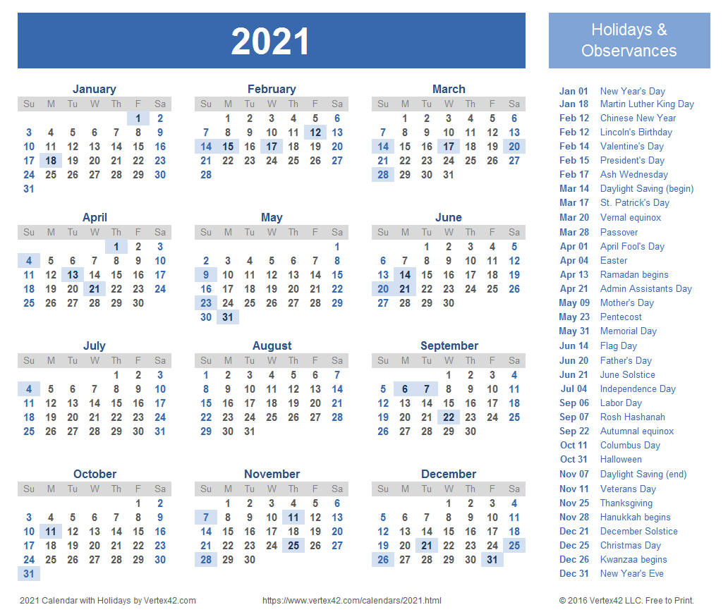 Our free printable 2021 calendar are available as microsoft word documents, open office format, pdf and image formats. 2021 Calendar Templates and Images