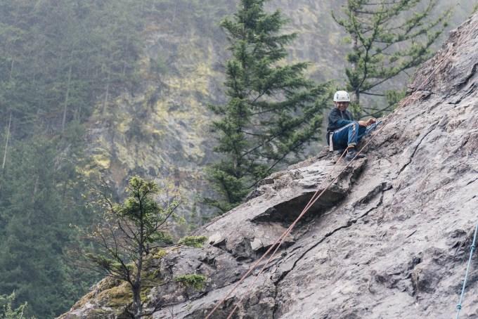 irc youth at top of rock climb