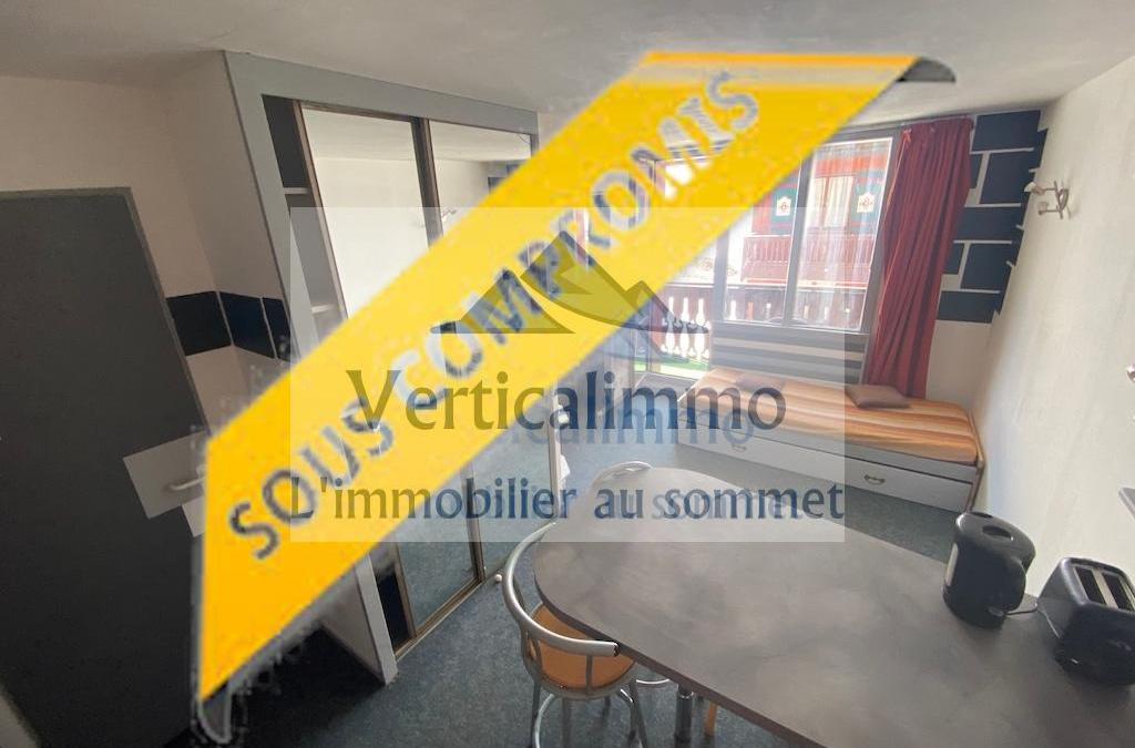 Vente Studio meublé idéalement placé face à la grande Motte – Tignes Val Claret – Ref 2021-02