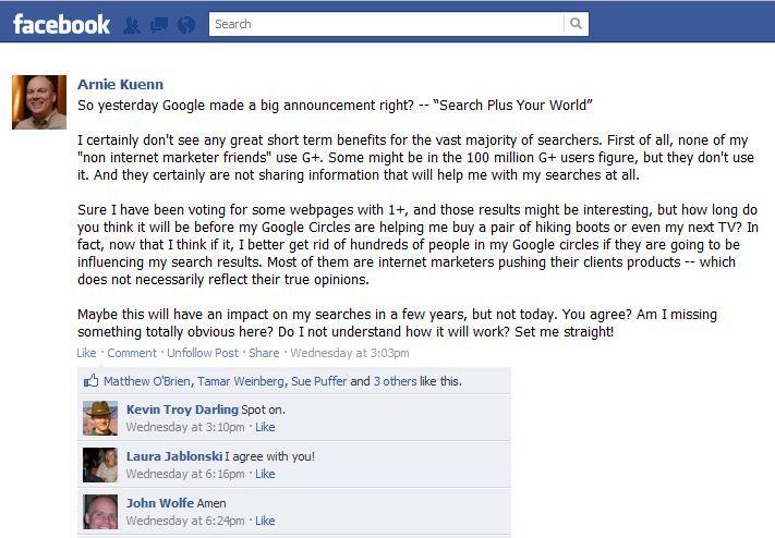 Arnie Kuenn Facebook