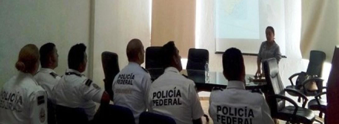 IMPARTE ZOFEMAT TALLER SOBRE EL CUIDADO DE NUESTRAS PLAYAS A LA POLICÍA FEDERAL