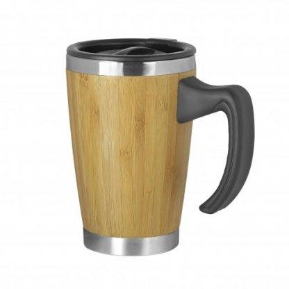 mug double paroi avec poignee en bambou 330ml batch