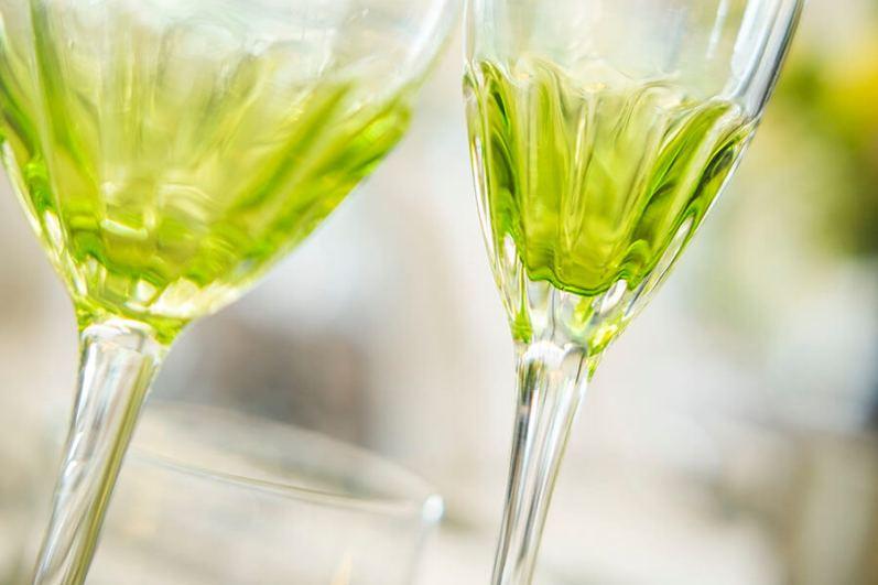 Frettoria wine glass $11.50, champagne flute $11.50 and tumbler $10.50