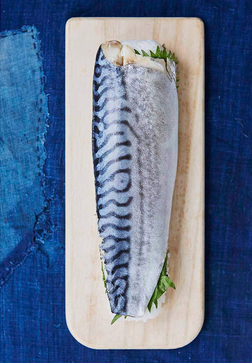 Cured Mackerel Pressed Sushi by Aya Nishimura