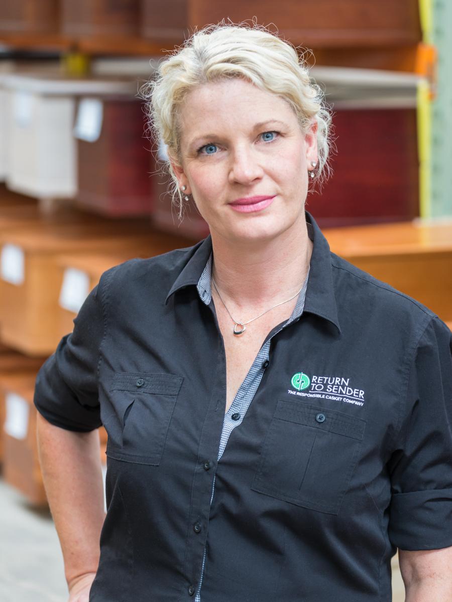 Julie Gilchrist, business manager of Return to Sender