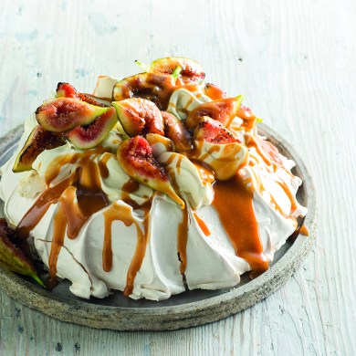 Fig and Caramel Sour Cream Pavlova
