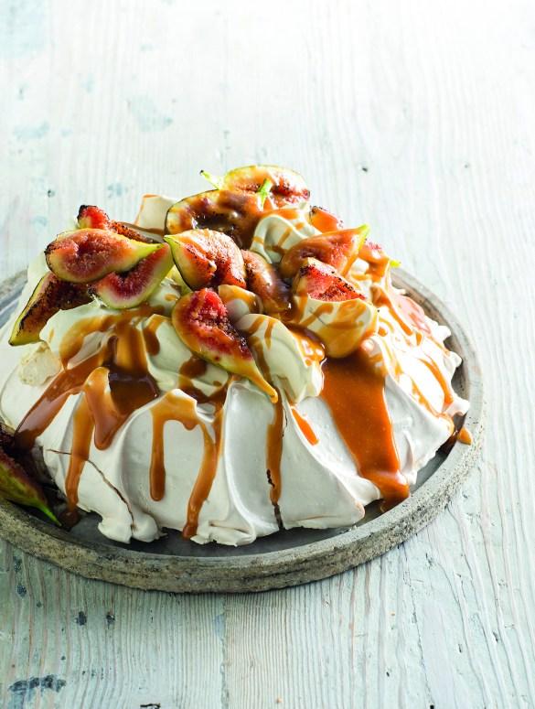 Fig and Caramel Sour Cream Pavlova