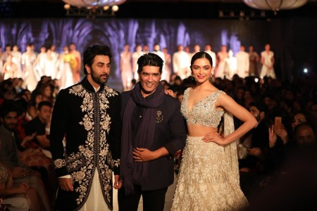 Ranbir Kapoor, Manish Malhotra and Deepika Padukone