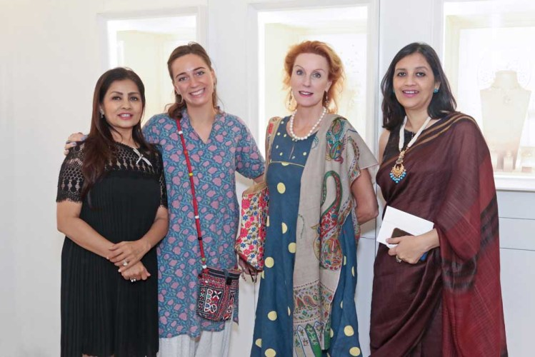 Sangita Sinh Kathiwada, Clementine Simon, Georgina Simon and Shinjini
