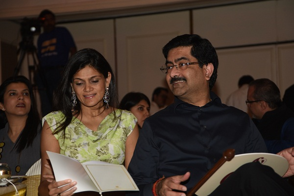 Neerja and Kumarmangalam Birla at The Founmdation's auction in Mumbai