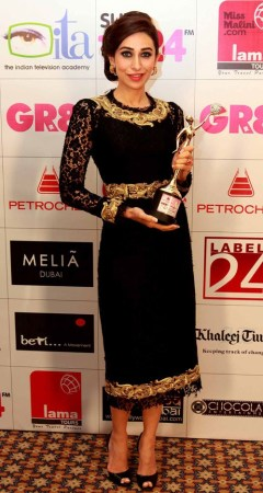 In Dolce & Gabbana at the Gr8 Women Achievers Awards, 2013