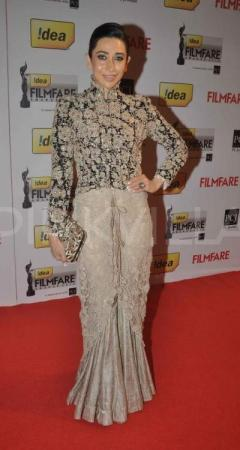 In Anamika Khanna Couture at the Filmfare Awards, 2013