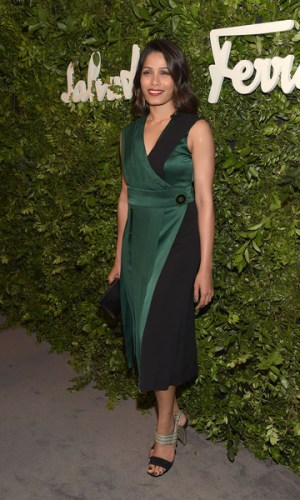 In Salvatore Ferragamo at their Celebration of 100 Years in Hollywood party, 2015