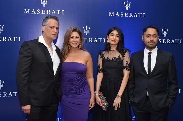 Mustafa and Rukhsana Eisa, Khushboo and Sukhbir Bagga at the Maserati Launch in Mumbai