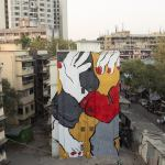 Art, Ella, Ella and Pitr, Featured, French artists, Grafitti, Installation, Mahim East, Mumbai, Mural, Online Exclusive, Pitr, sleeping giants, St+art Festival 2018, St+Art India, St+art India Foundation