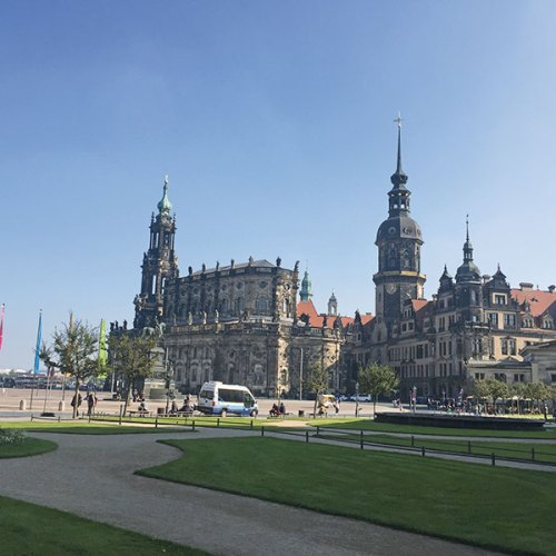 The charming town of Dresden