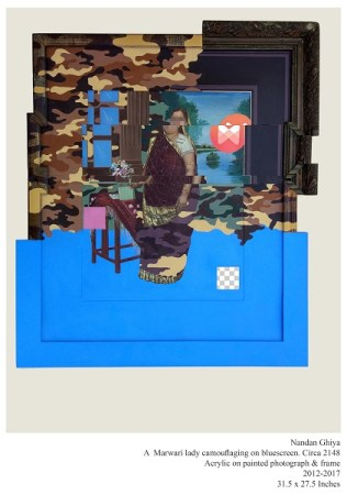 A Marwari Lady Camouflaging on Bluescreen c.2148