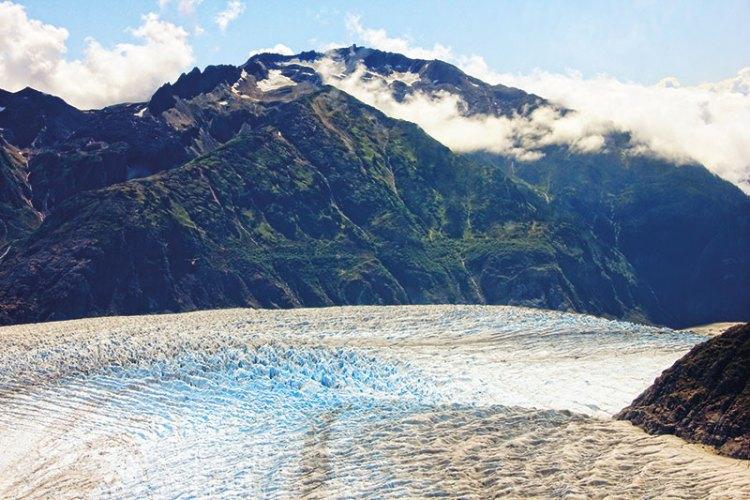Juneau's mountains as seen from Mendenhall