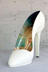 Vénus à l'escarpin by  Jean-Jacques Ory at the Fiesso d'Artico shoe plant