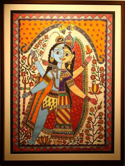 Ardhanareshwari, Mithila Folk Art