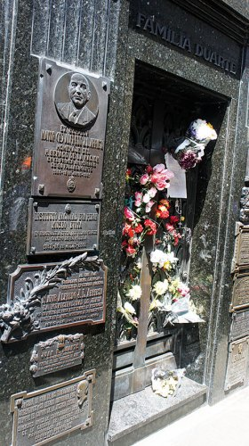 Eva Peron's grave at Recoleta cemetery