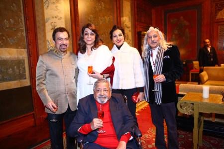 Ashok Wadhwa, Lady Naipaul, Reena Wadhwa, Sanjoy Roy, Sir Naipaul