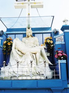 Replica of Michelangelo's famed Pieta at the Cathedral, Shillong