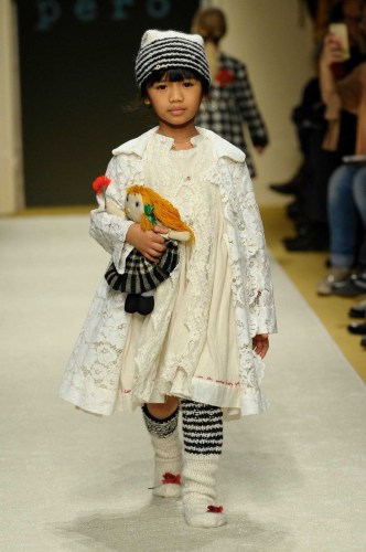 Chota Péro at Pitti Bimbo, a children's wear fashion show in Italy