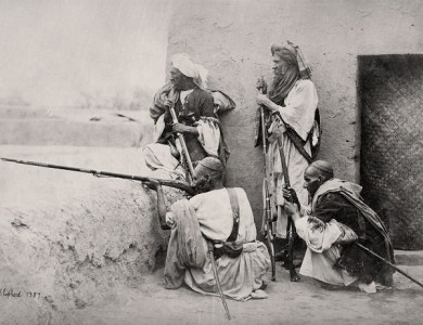 Afghanistan, Group of Affreedies from  the Khyber Pass