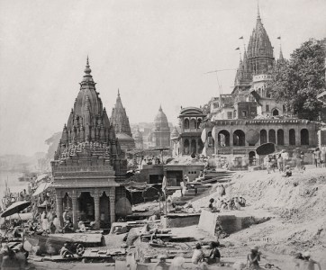 Varanasi (formerly Benares), Vishnu temples on the Ganges