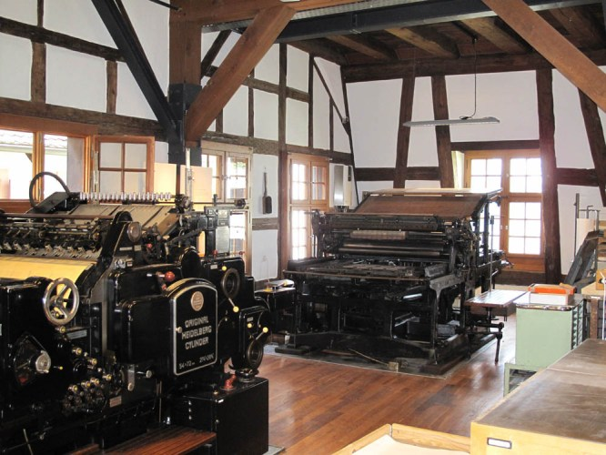 Printing workshop at the Basel Paper Mill
