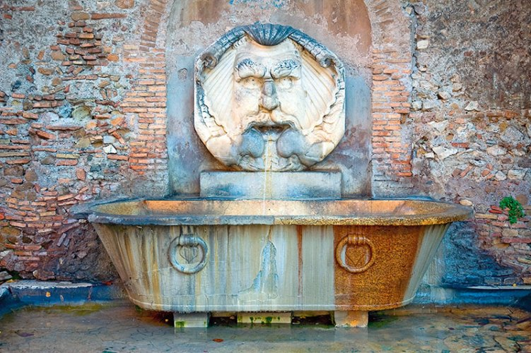 An antique Greek bathtub