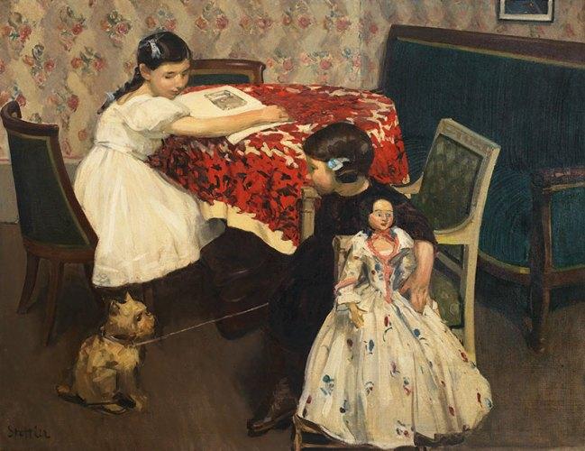 Martha Stettler, Intimité, 1912, oil on canvas, 112 x 145 cm