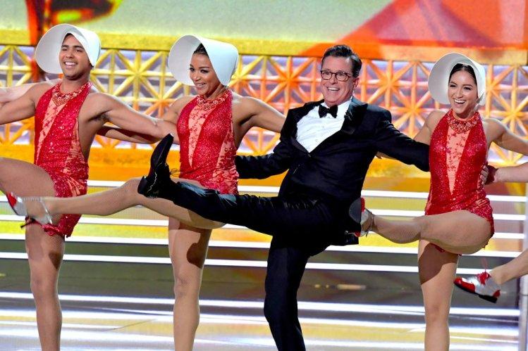 Host Stephen Colbert