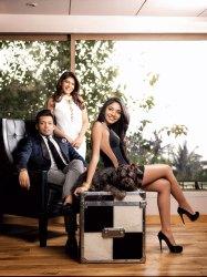 Bina Goenka with her son Yash and daughter Avanti