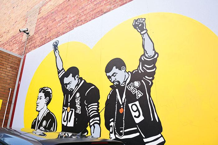 Painting in Burnett Lane