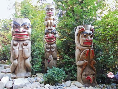 Totem poles at Capilano Park, Vancouver