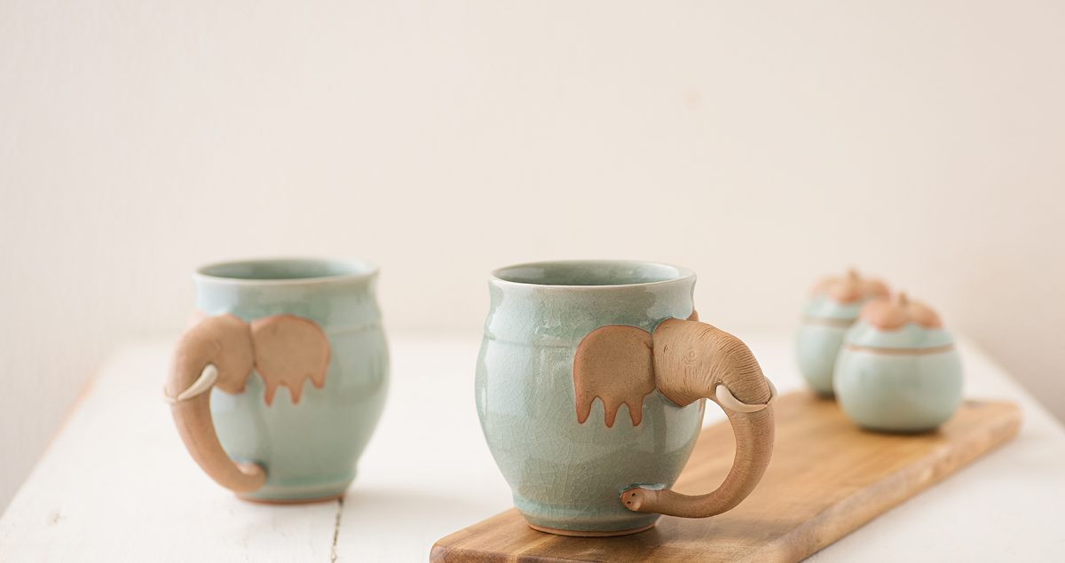 Celadon mugs, Thailand, Curo Carte, Ananya Birla, home decor