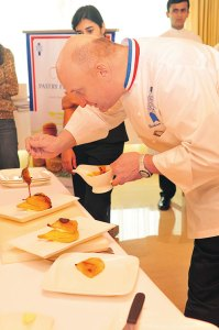 Chef Faure at the pastry workshop