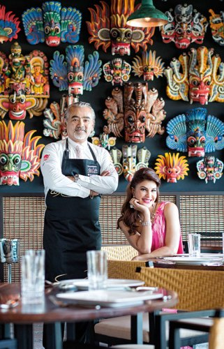 Chef Dharshan Munidasa and Jacqueline Fernandez