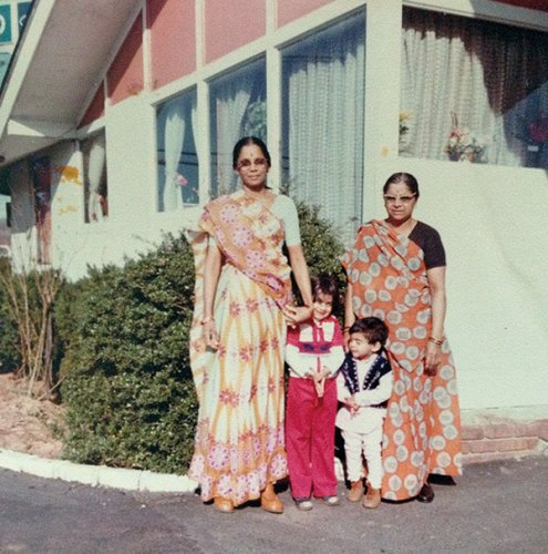 Chiraag with his two Aunts in NJ, 1980