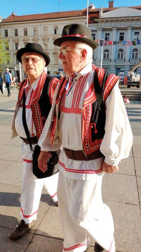 In traditional finery on Zagreb Day