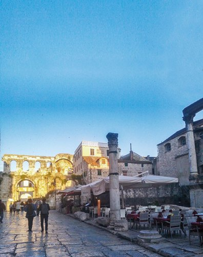 The imposing ruins of the Diocletian Palace, Split