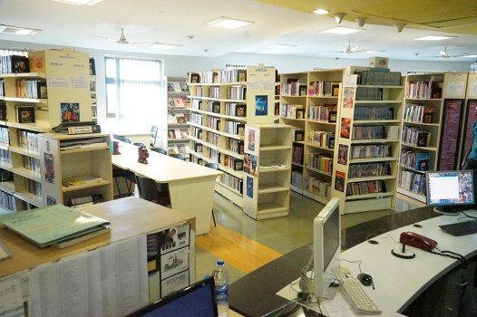 Whistling Woods' library