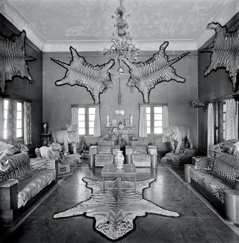 Trophy room in a private residence, 1980, Silver gelatin print
